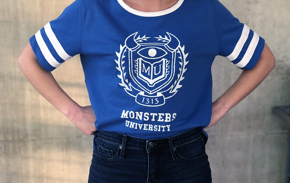 Rep Your Favorite School in this Monsters University Tee (@OhMyDisney): https://t.co/l7gD3Jdera