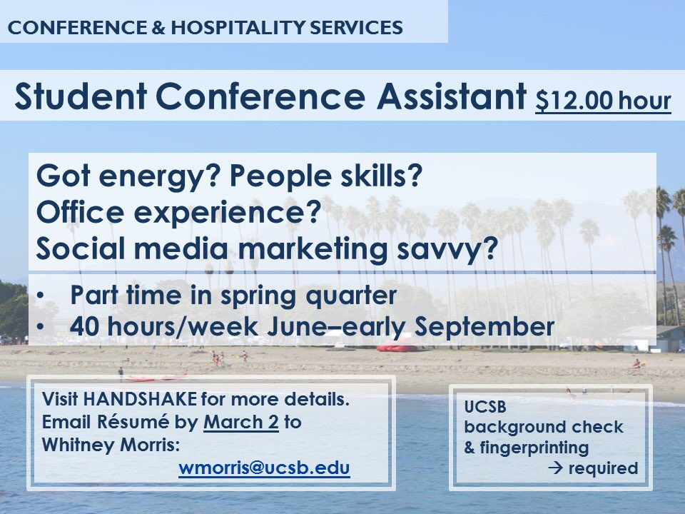 UCSB Conferences on Twitter: