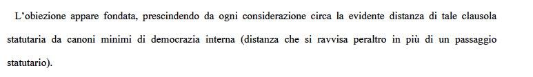 Il tribunale di Roma dice che la democra...