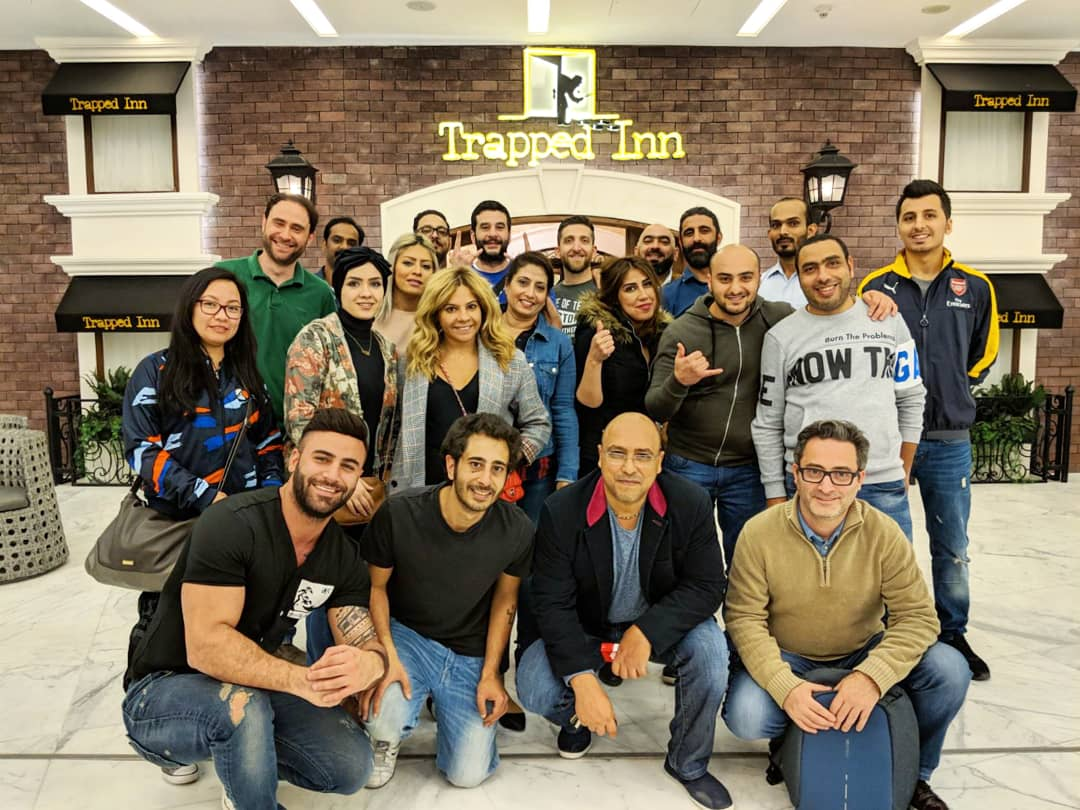 Challenge accepted! We brought our A-game at @trapped_inn for our team building retreat.  #tbwa #tbwakuwait #kuwait #q8 #trappedinn #advertising #agency #marketing #socialmedia #creative #teamwork https://t.co/ciRuy9J4BO