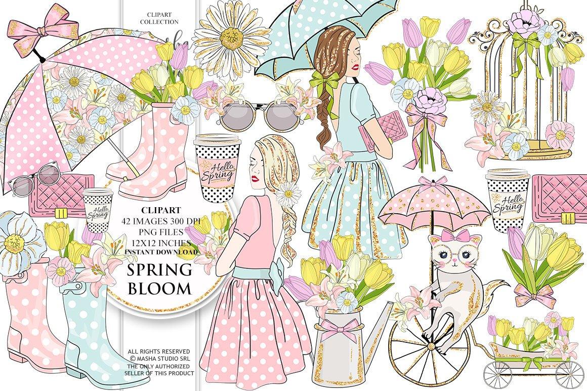 Cristina Fenesan On Twitter Spring Bloom Clipart Spring Clip Art
