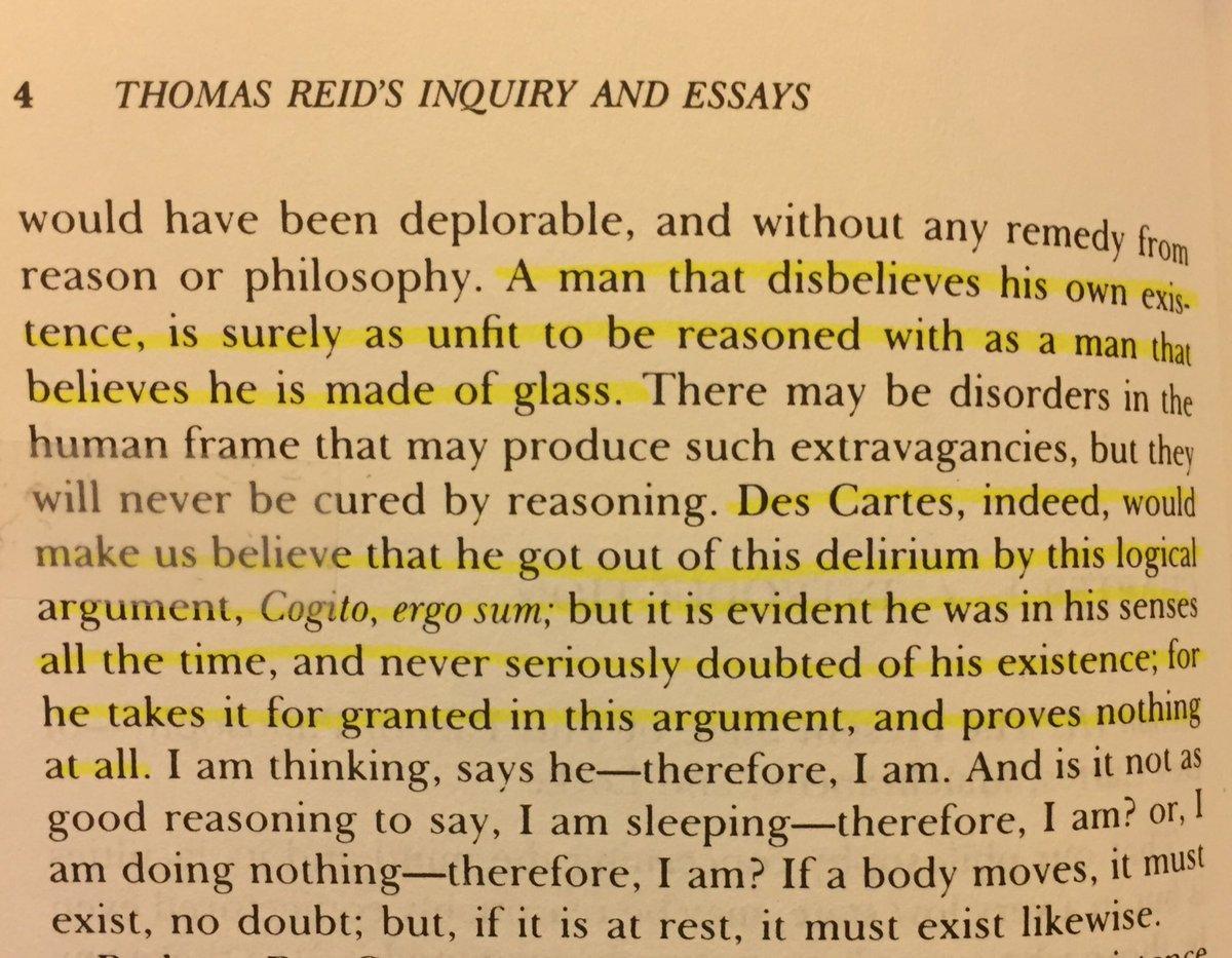 Thomas Reid on Descartes - sick burn htt...