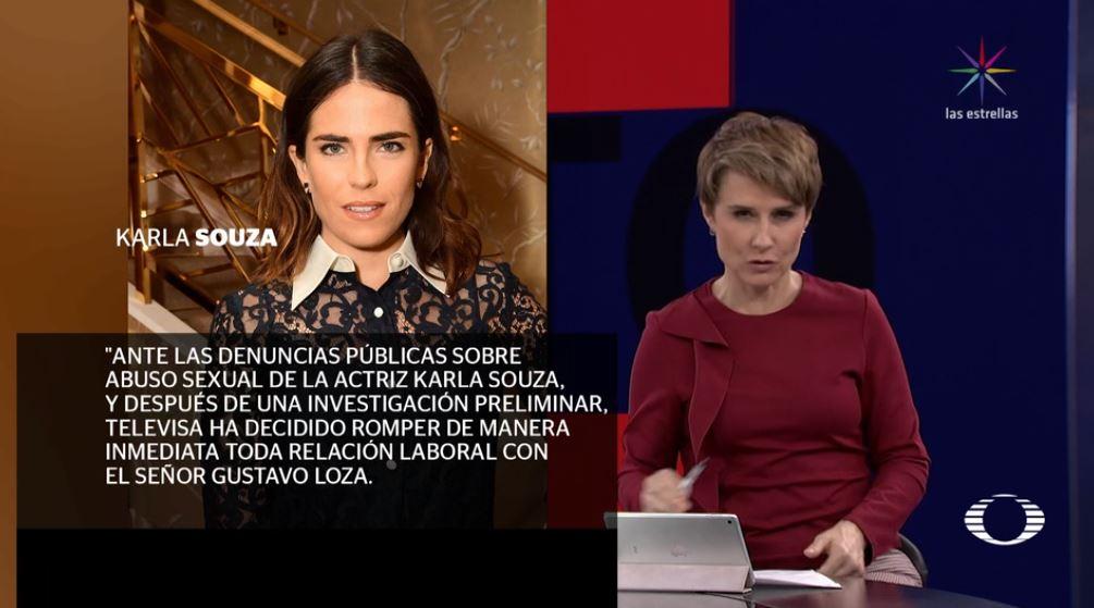 Televisa informa que rompe toda relación laboral con Gustavo Loza tras denuncias realizadas por la actriz Karla Souza.... La empresa no tolerará conductas como la denunciada hoy. #enPunto con @DeniseMaerker https://t.co/oPHqfTuTwB