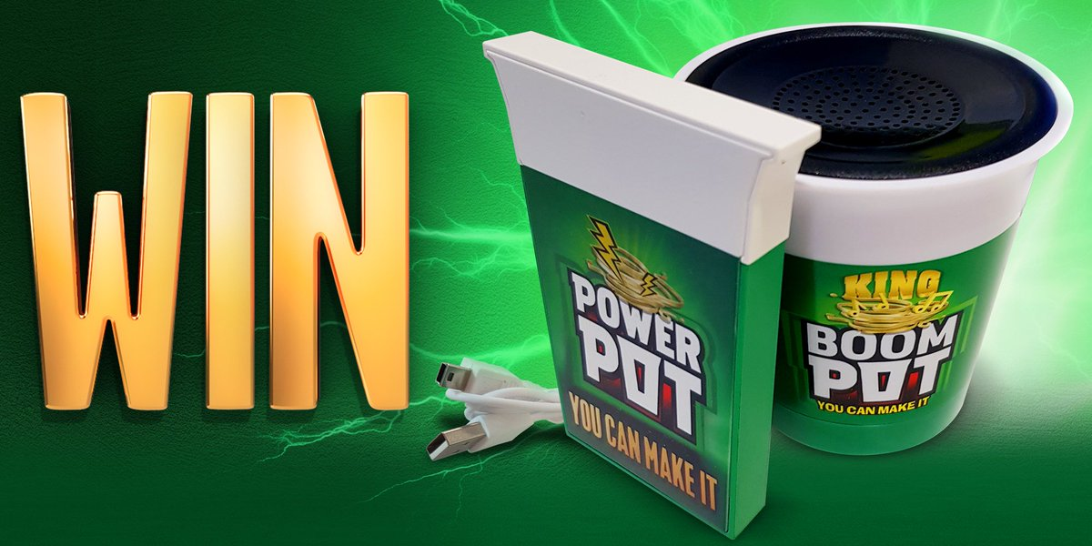 #WIN with @PotNoodle!   For your chance to WIN a BOOM POT speaker, an on the go POWER POT charger + a case of Chicken & Mushroom Pot Noodle, simply RT & Follow @myLondis!  #WinItWednesday