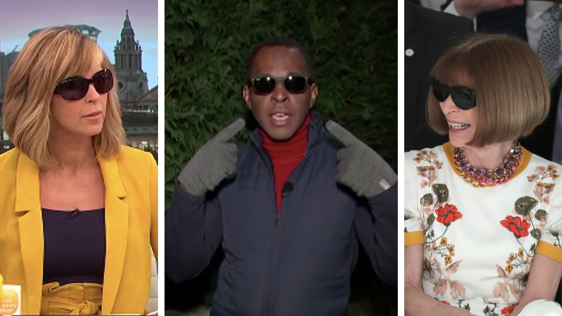 RT @GMB: Why are @andipeters and @kategarraway wearing sunglasses on #GMB?  🕶️ https://t.co/xV9HEaicJq https://t.co/Hz1cel1kC8