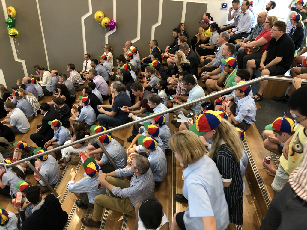 Another amazing @CodeCadets event at @CanberraGrammar, launching the exciting programme for 2018. Snow Centre decked out in style to welcome 246 (!!) boys and girls in CodeCadets, CodeCadets Extension and taking coding courses at CGS this year. Inspired and proud.