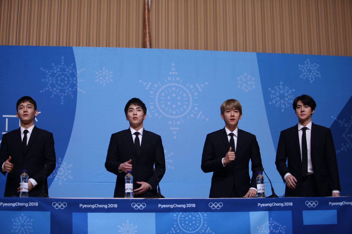 EXO press conference - happening right now. They will perform in the Closing Ceremony!  #PyeongChang2018 #Olympics @weareoneEXO #EXO #엑소 #ClosingCeremony