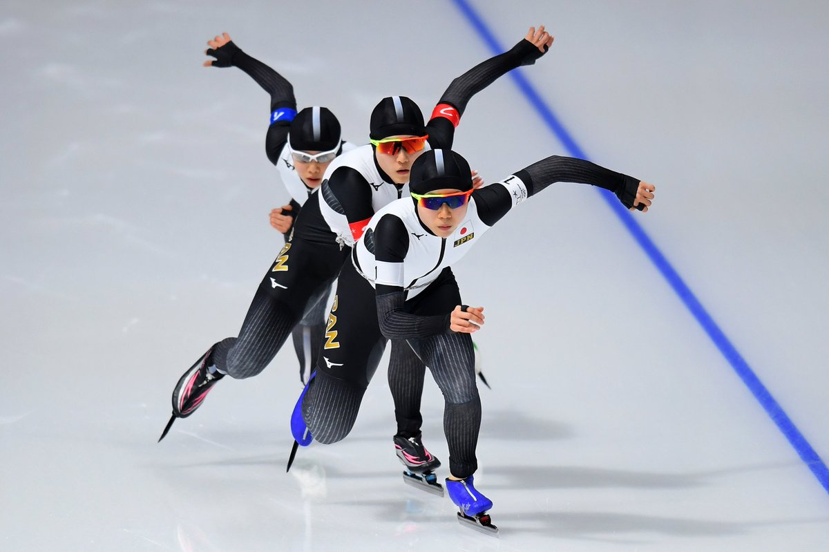#スピードスケート 女子チームパシュート決勝で、高木美帆選手、佐藤綾乃選手、高木菜那選手で挑んだ日本代表はオランダ代表に勝利し金メダル獲得です オリンピックレコードでのフィニッシュ! おめでとうございます  @Japan_Olympic #olympics #PyeongChang2108