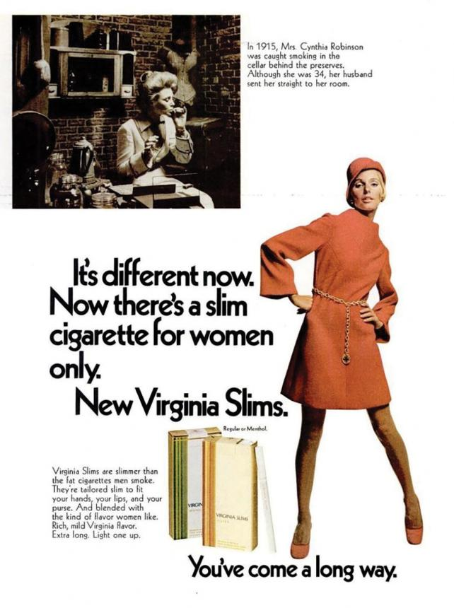 Who You Callin' Baby? Barbara Lippert reviews old Virginia Slims ads. https://t.co/JOHNWfGkJY https://t.co/S7pbOF18no