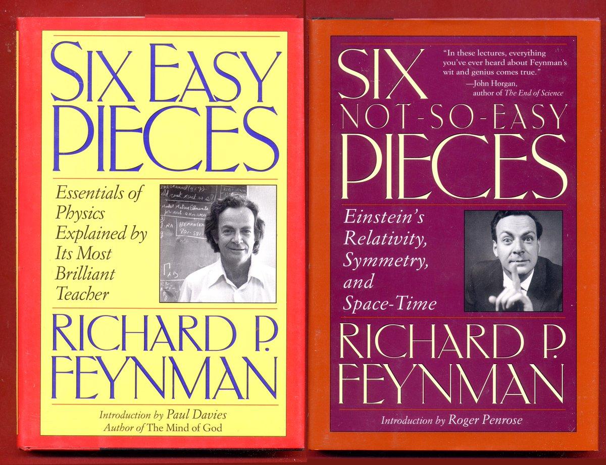 Flaming Anvil Media On Twitter 2 Richard Feynman Books 6 Easy Pieces Six Not So Easy Pieces Richardfeynman Feynman Elprize Physics Hbdj Free