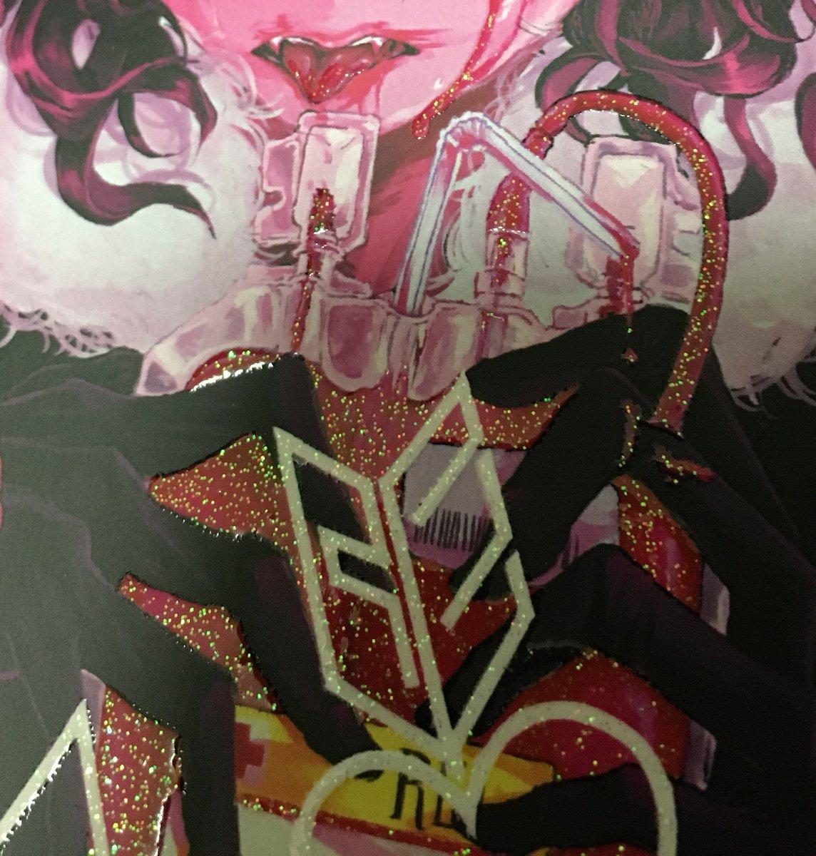 新刊見本誌とどいたよ〜〜〜〜!!!!!血みどろラメエナメル(…)すっっごく可愛く入れていただけました!!舌のとこと目の中の♡がお気に入り……遊び紙も蛍光ピンク〜〜〜最高〜〜〜〜〜💪