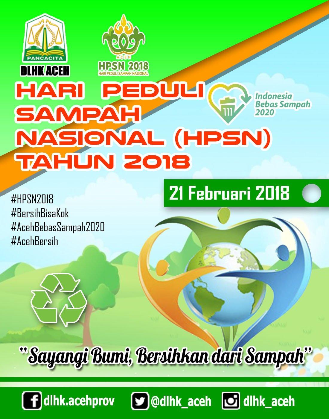Dlhk Aceh On Twitter Hari Peduli Sampah Nasional Tahun 2018