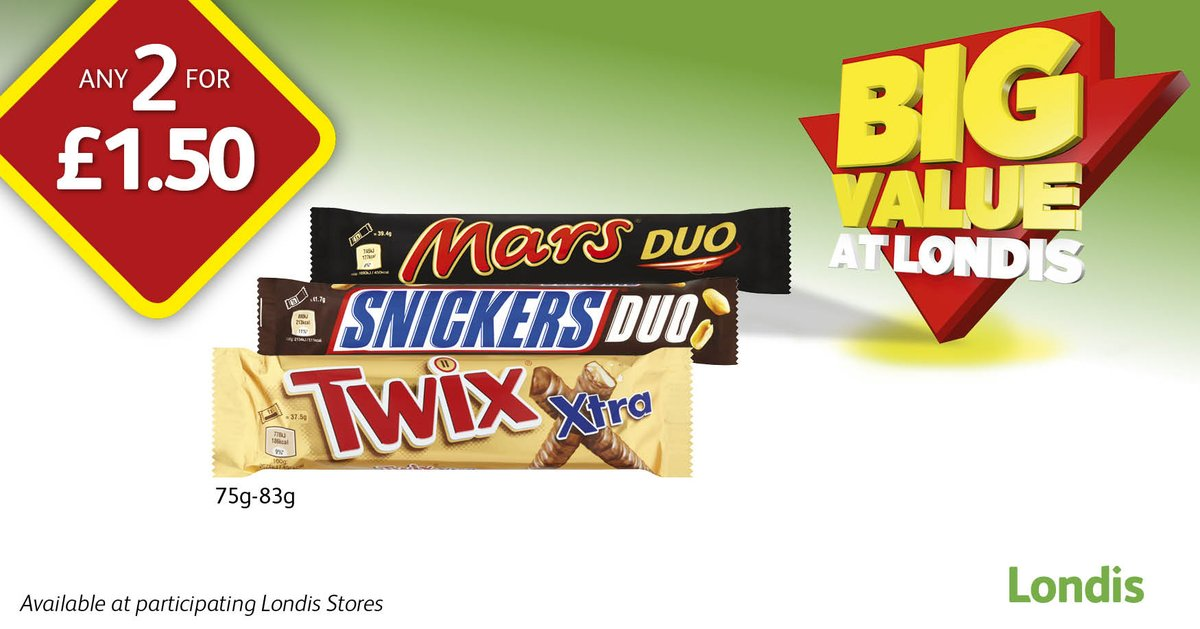 On the road? Stay fueled with your favourite Duo bar from your local @myLondis  Twix, Mars or Snickers - whats your favourite?