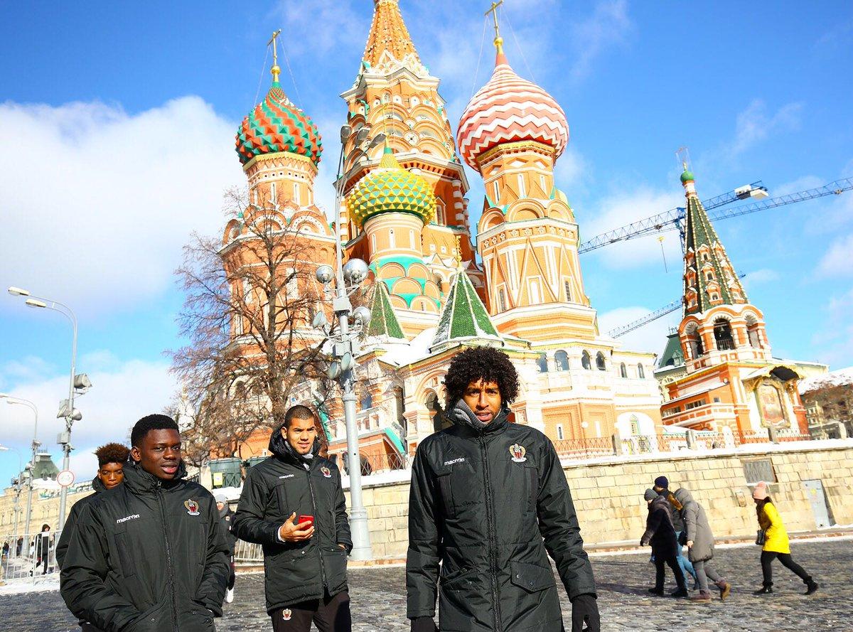 Я рад быть опять в России.  Но на это раз здесь очень холодно. #EuropaLeague #OGCNice #IssaNissa
