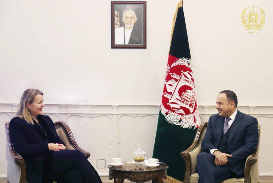 With Amb of Norway to Afghanistan, H.E. Ms. Mari Skåre, I discussed preparations for follow up meeting of Brussels conference set to be held in Geneva.