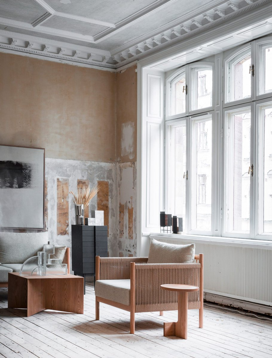Design Week New Anese Furniture Brand Ariake Presented Its First Range Inside A Crumbling Emby Building