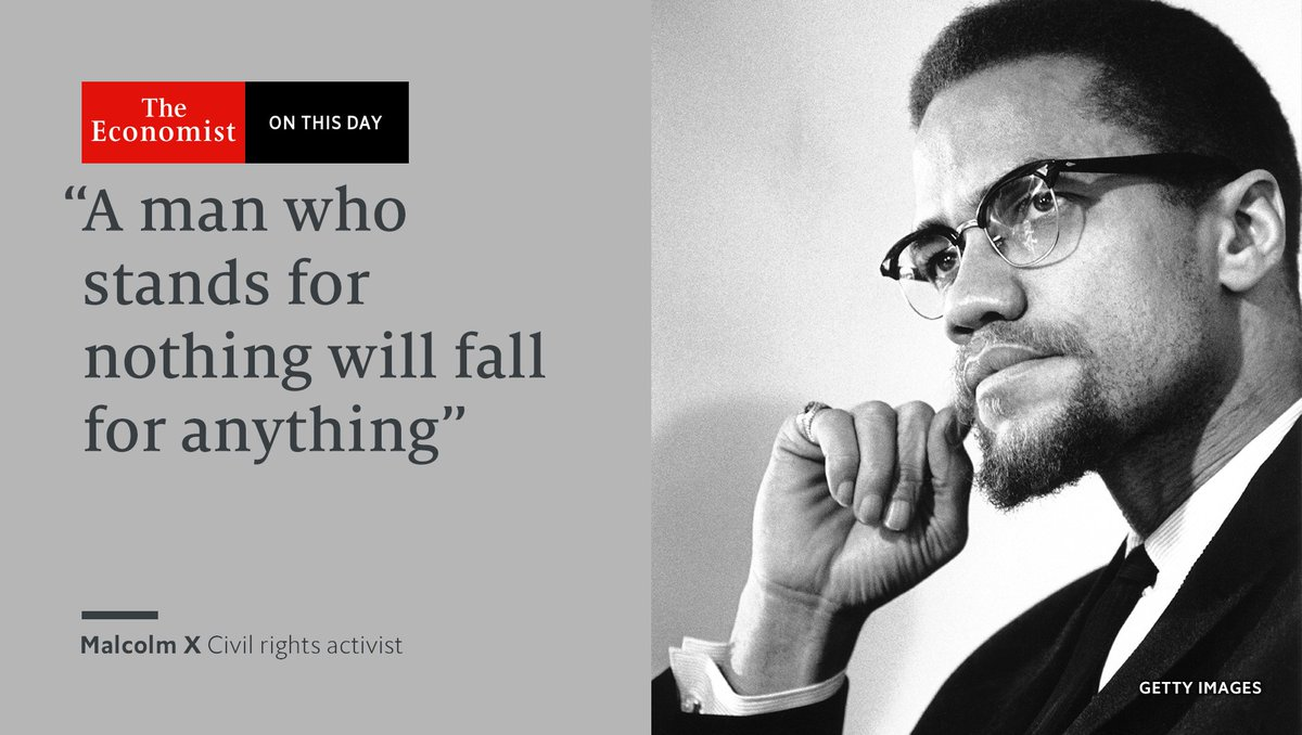 Malcolm X was assassinated #OnThisDay 1965. He appealed to poor black people, rural and urban alike https://t.co/64BxnIeygP