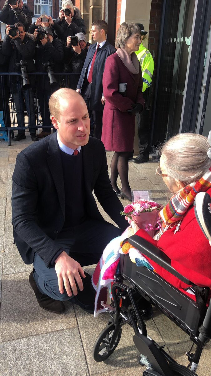 Prince William greeting the special guest, Jane, 101 years old! #royalvisit #sunderland #welcometosunderland