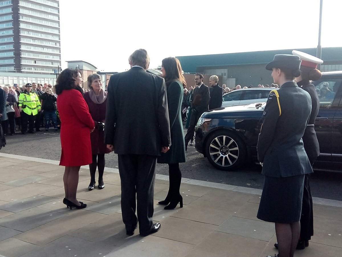 PICTURES: William and Kate have arrived! Theyve been talking to the crowds outside @FireStationSun: sunderlandecho.com/our-region/sun… #RoyalVisit