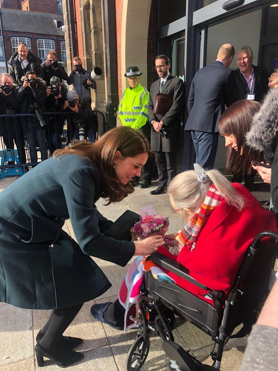 Kate meeting special guest Jane! #sunderland #royalvisit