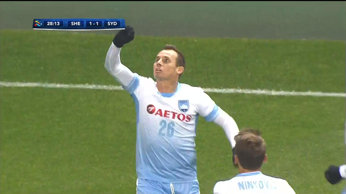 28' GOALS AT BOTH ENDS | WOW. A pulsating three minutes sees Obafemi Martins open the scoring before Luke Wilkshire equalised for Sydney FC.  Follow LIVE: https://t.co/6qutfjUd2R