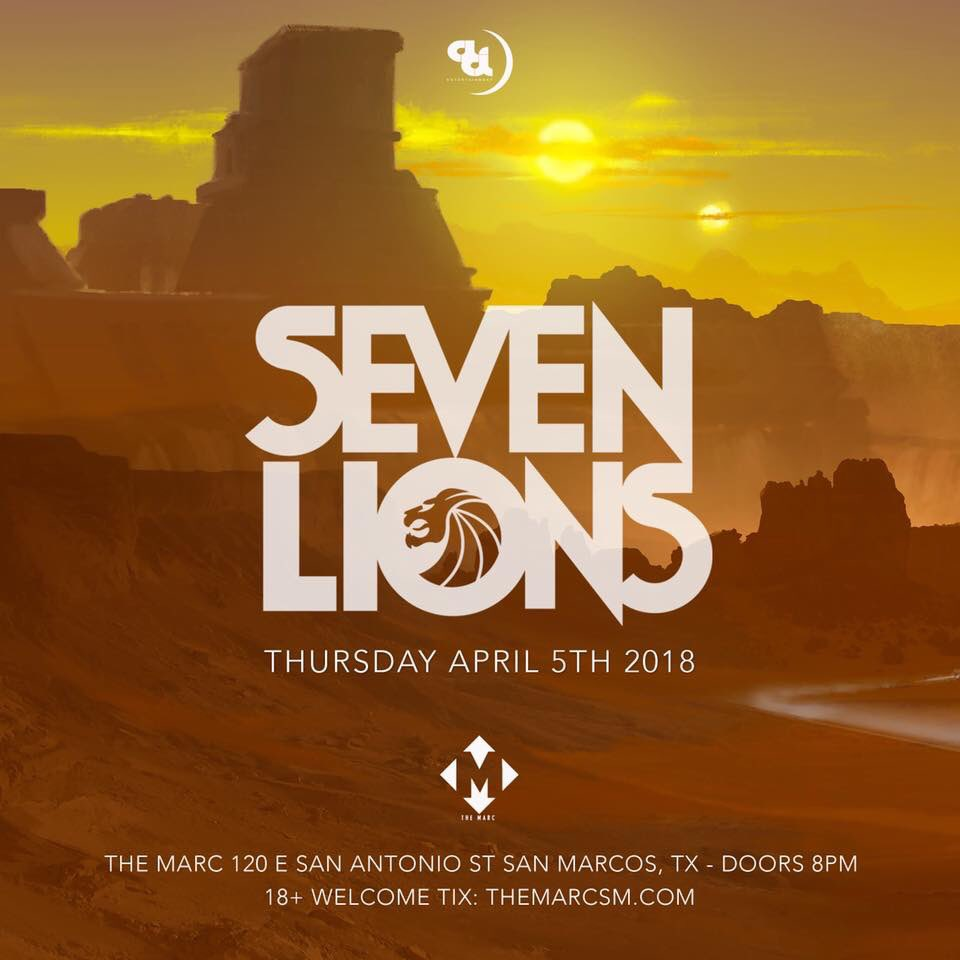 🚨🚨NEW SHOW🚨🚨 @SevenLionsMusic at @TheMarcSM 🦁🦁🦁🦁🦁🦁🦁 These tickets will NOT last long. One of the biggest names to come to @TheMarcSM sevenlions512.eventbrite.com