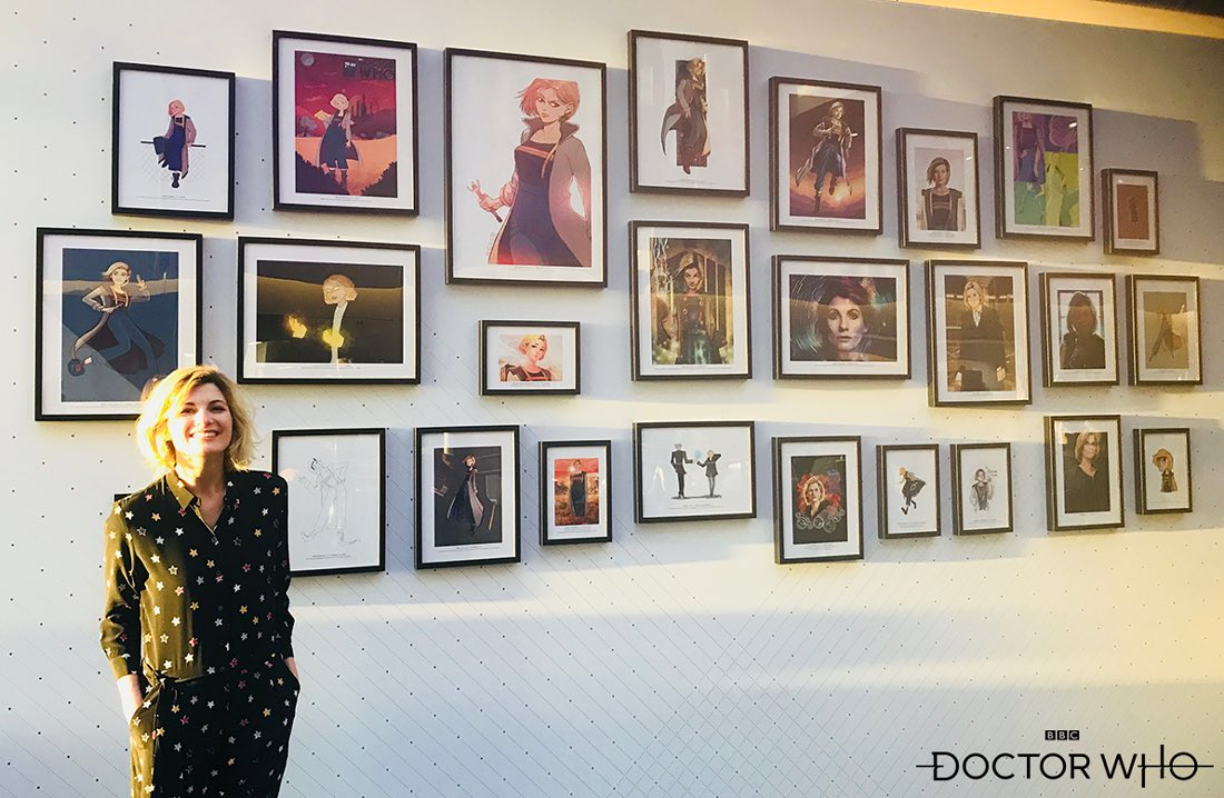 Jodie attended the BBC Worldwide Annual Showcase event yesterday and wanted to express how much she enjoyed looking at all your brilliant Doctor Who fan art on display there!
