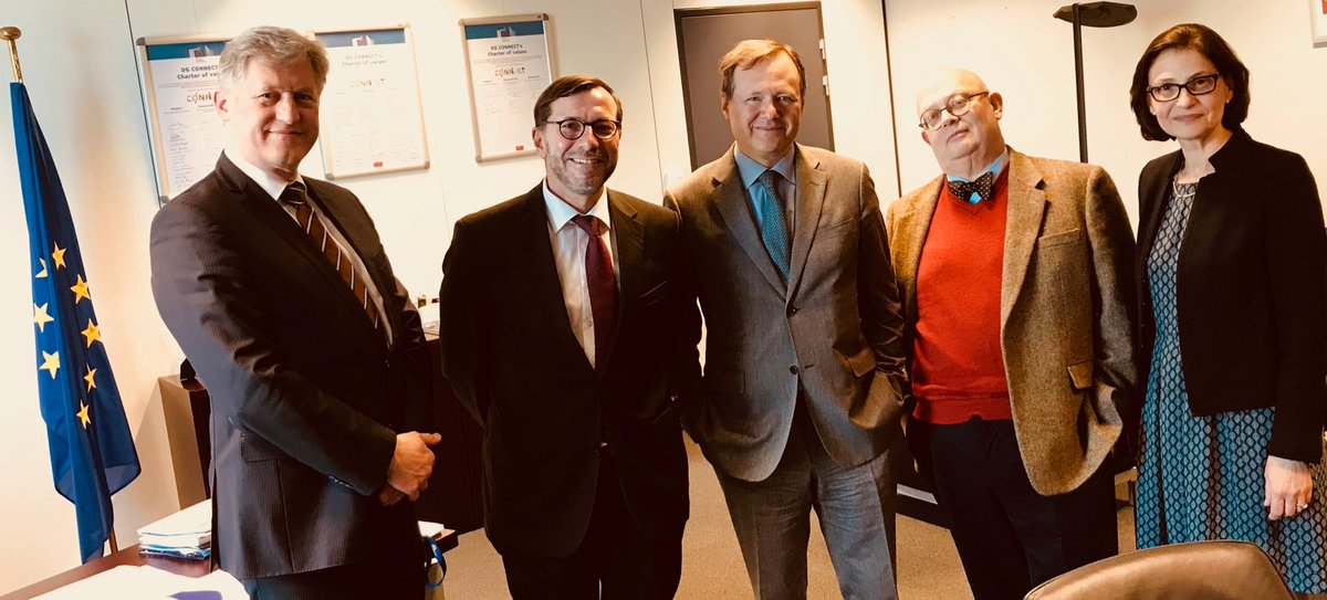 #IoT #IoTSecurity #CyberSecurity sophisticated #ConnectedMobility #connectivity #5G market opps as pillars of coop btw @EDSO_eu  chair @ChristianBuchel and @DSMeu DG @ViolaRoberto  kicking off new ideas to integrate digital necessities into smart grids! @Energy4Europe @ristori20 <br>http://pic.twitter.com/HlkMo7Tl1b