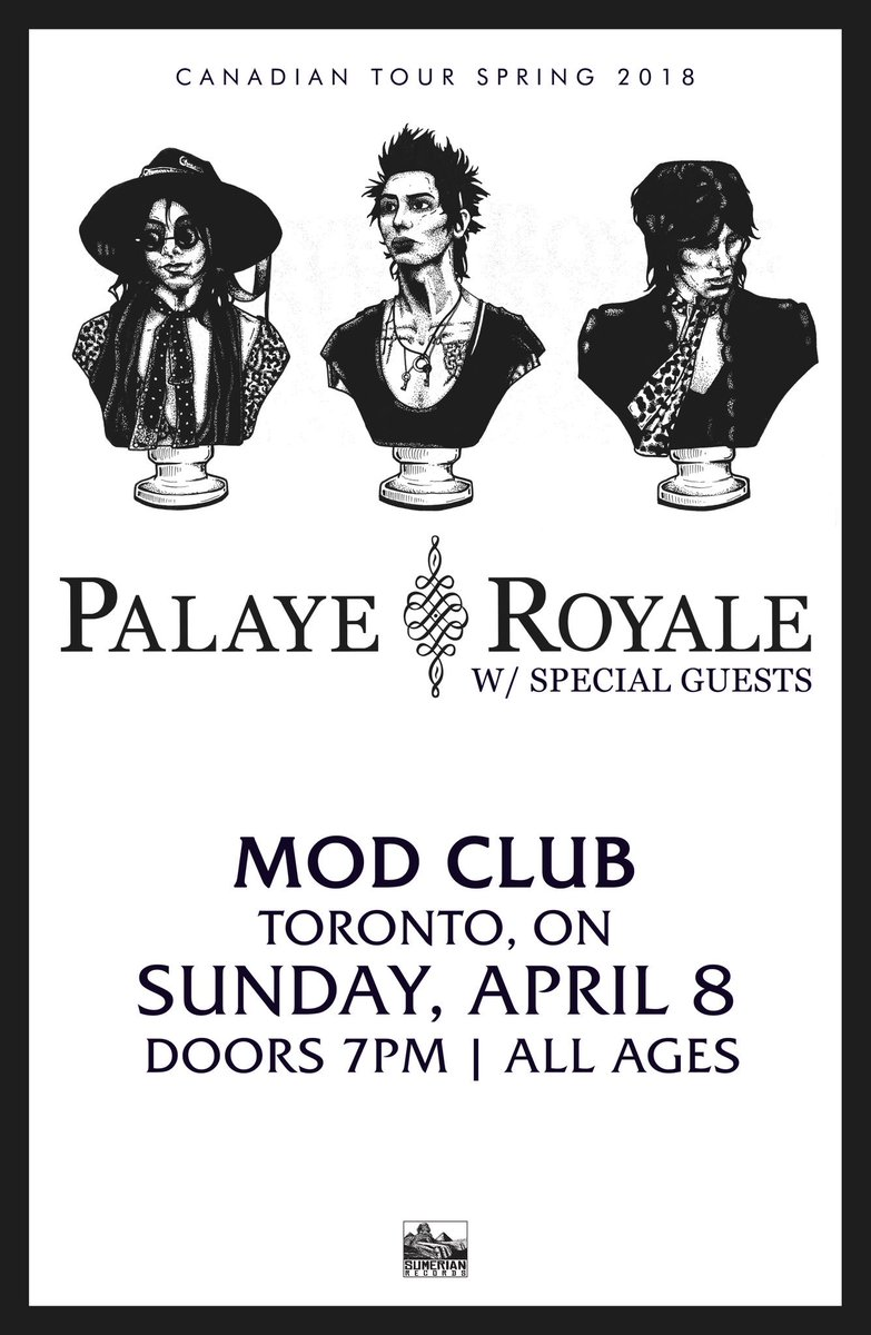Word on the street is that 73% of all general admission tickets are sold. 😊   Apr-08: Mod Club • Toronto, ON Tickets: https://t.co/NzC96jZUwy VIP: https://t.co/WxUyoaGuVP