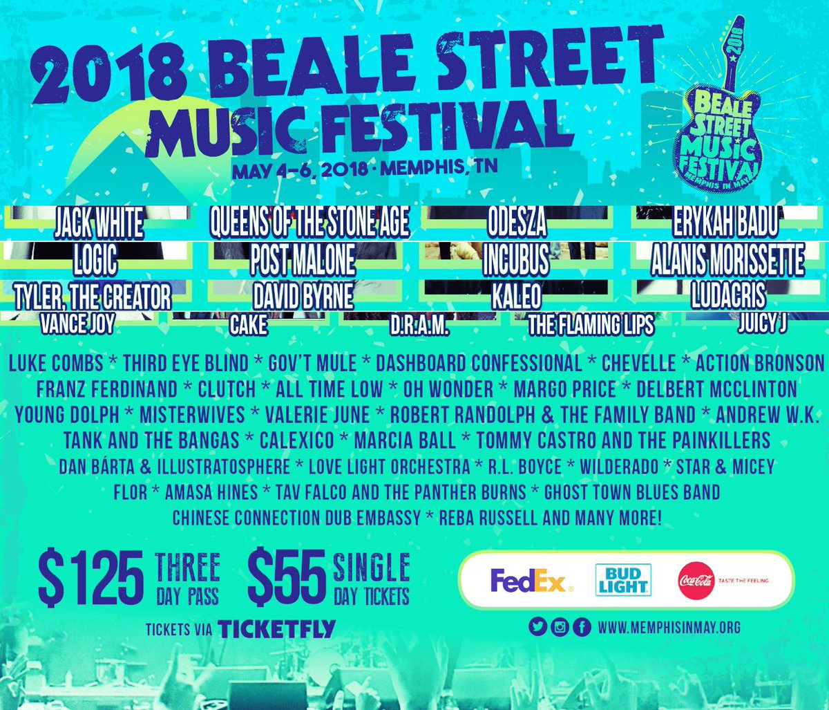 Just announced Chevelle will be playing the Beale Street Music Festival on 5/5. This is one of the few show we will be playing this year as we write and record the new album, so come on out!