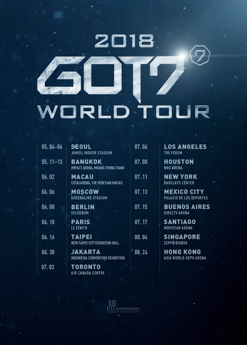 2018 GOT7 WORLD TOUR  #GOT7 #WORLDTOUR h...