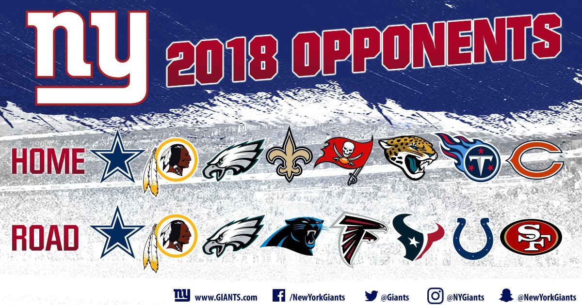 ee3c33fe3 ICYMI  NFL strength of schedule rankings are out. See where the  NYGiants  rank in 2018. READ  http   bit.ly 2sKRsEG pic.twitter.com C6jRNqVrFI