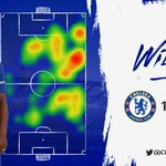 And here's a look at @willianborges88's heat map from last night's game! 🔥