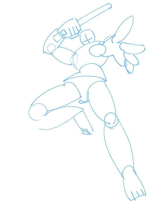 【人間と同じように考えてみよう】  《メカイラスト初心者向け》人型ロボットキャラクターの躍動感のあるポーズの描き方 | いちあっぷ