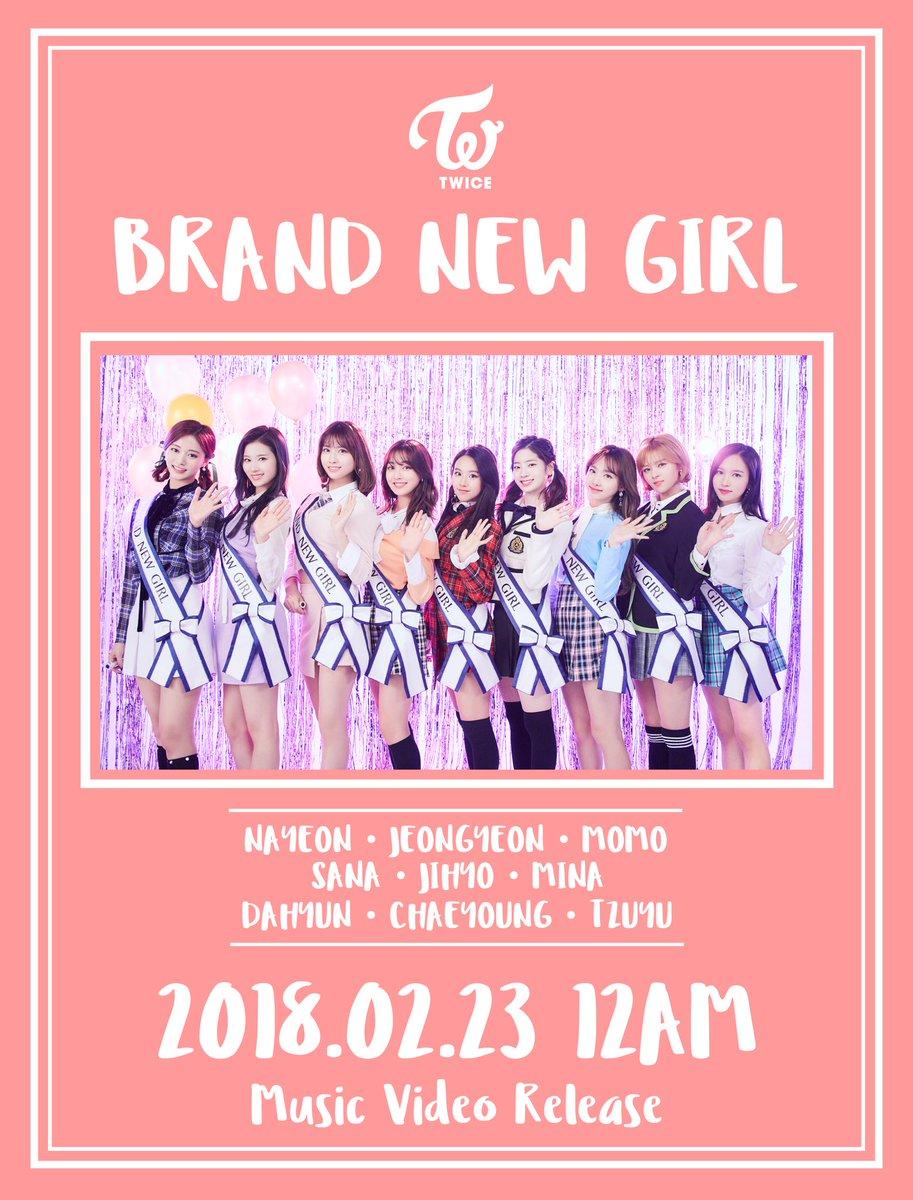 TWICE「BRAND NEW GIRL」Music Video 2018.02.23 Release  #TWICE #BRANDNEWGIRL