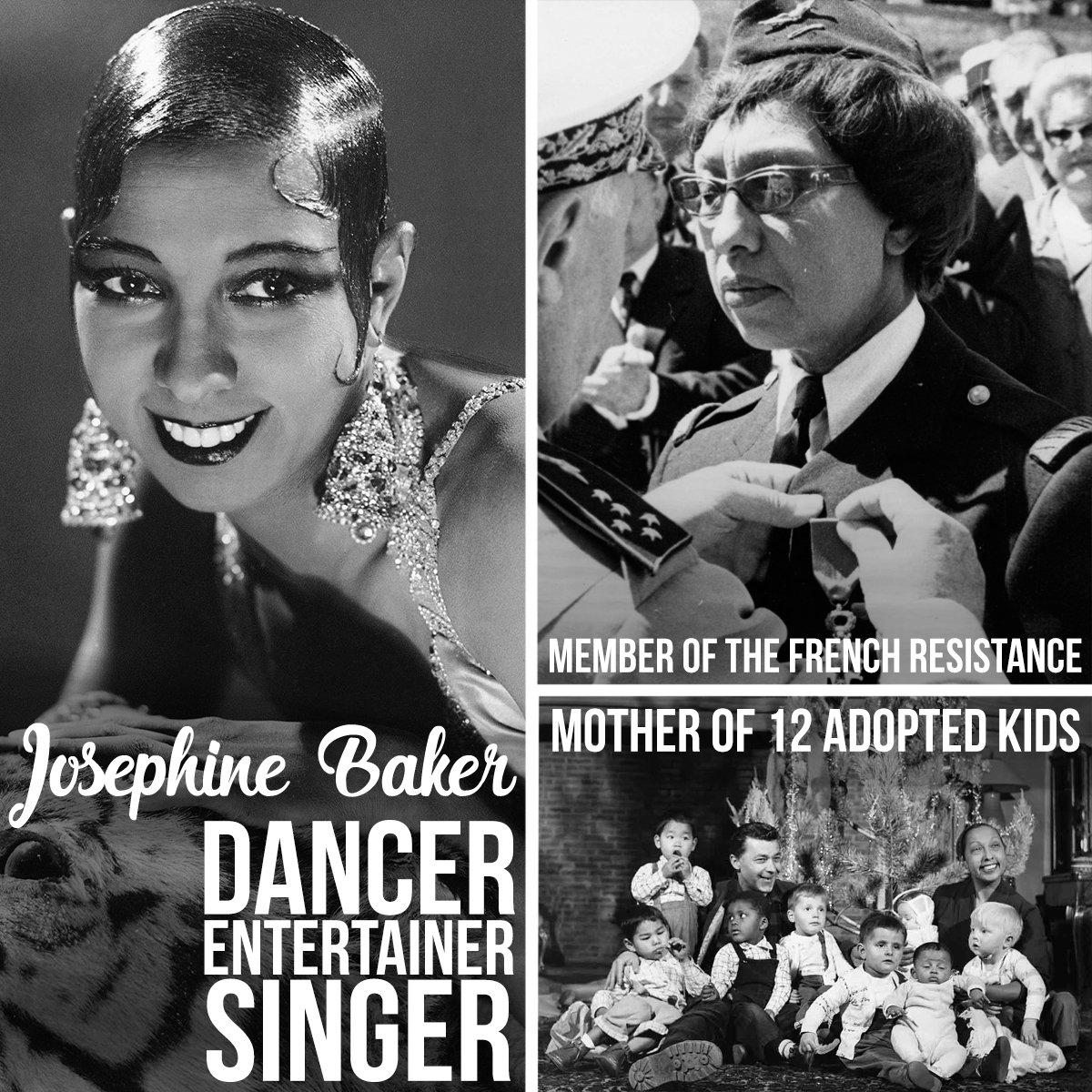 I have two loves, my country and Paris said American performer Josephine Baker in her 1930 song Jai Deux Amours. Baker was a beloved artist in France, who also took part in the French Resistance during World War II. Learn more: goo.gl/iJA7Kp  #BlackHistoryMonth