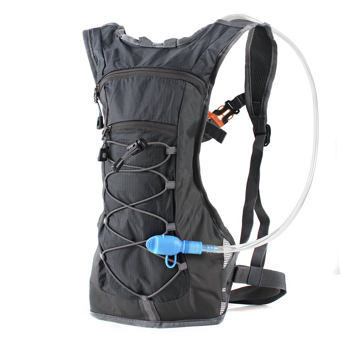 TACTICAL Outdoor Hydration Backpack with 2.5L BPA Free Water Bladder Mili