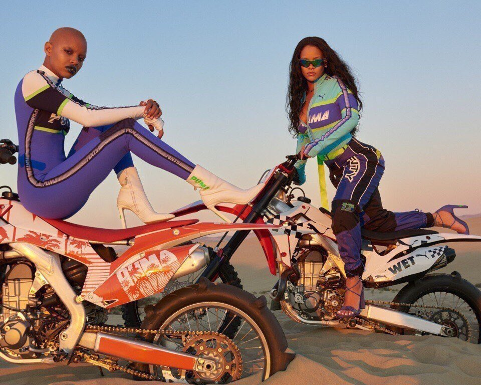Rihanna and Slick Woods for #FentyxPuma...