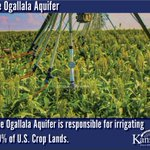 Did you know the #OgallalaAquifer supplied #water to 30% of U.S. #croplands? Something to think about this #WaterWednesday @KansasDeptofAg @KStateRschExtn  @USDA_NRCS @USDA @Ogallala_water
