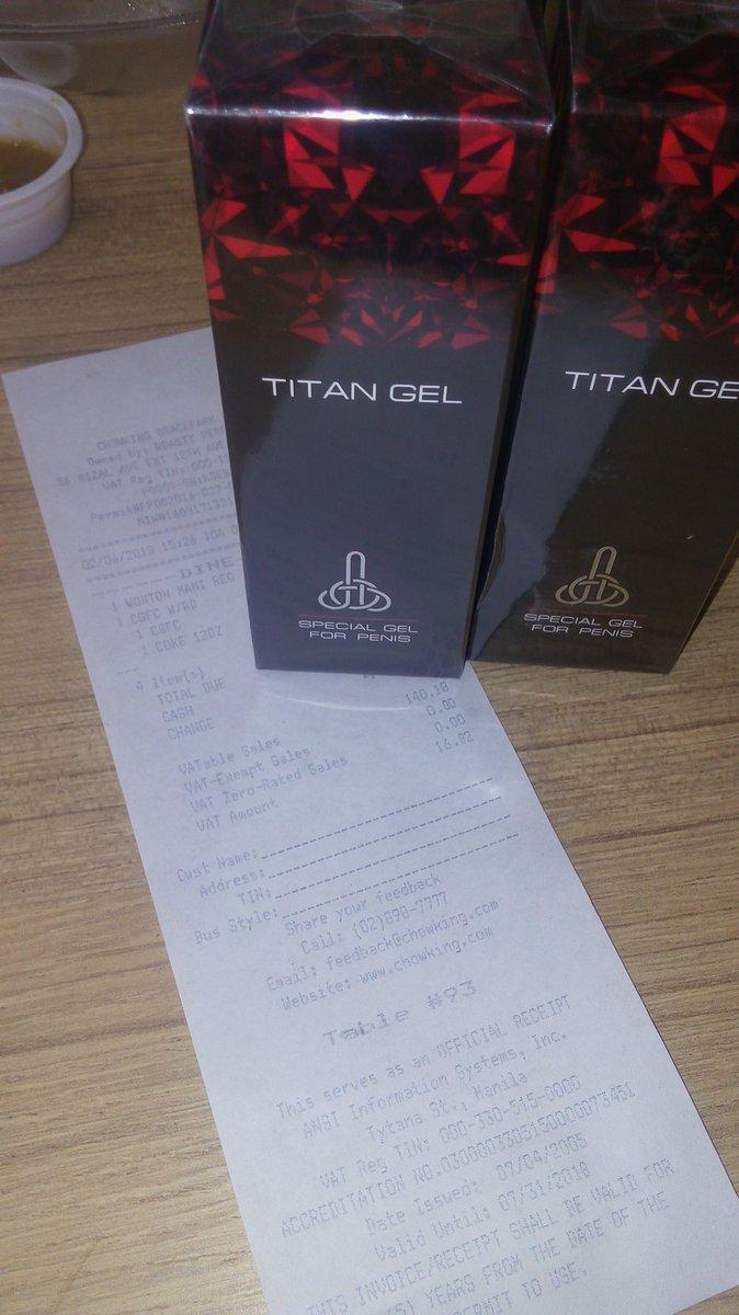 titan gel manila titangel16 twitter