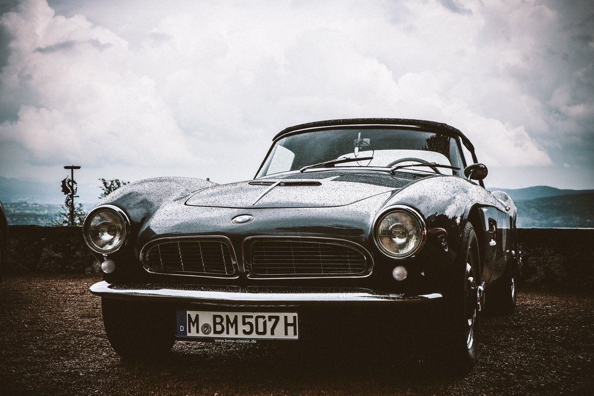 Even after the rain the BMW 507 still looks stylish as ever. #BMWGroupClassic