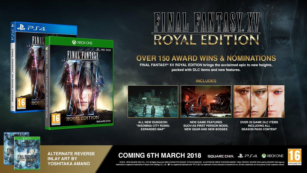 final fantasy xv on twitter ffxv royal edition royal pack dlc