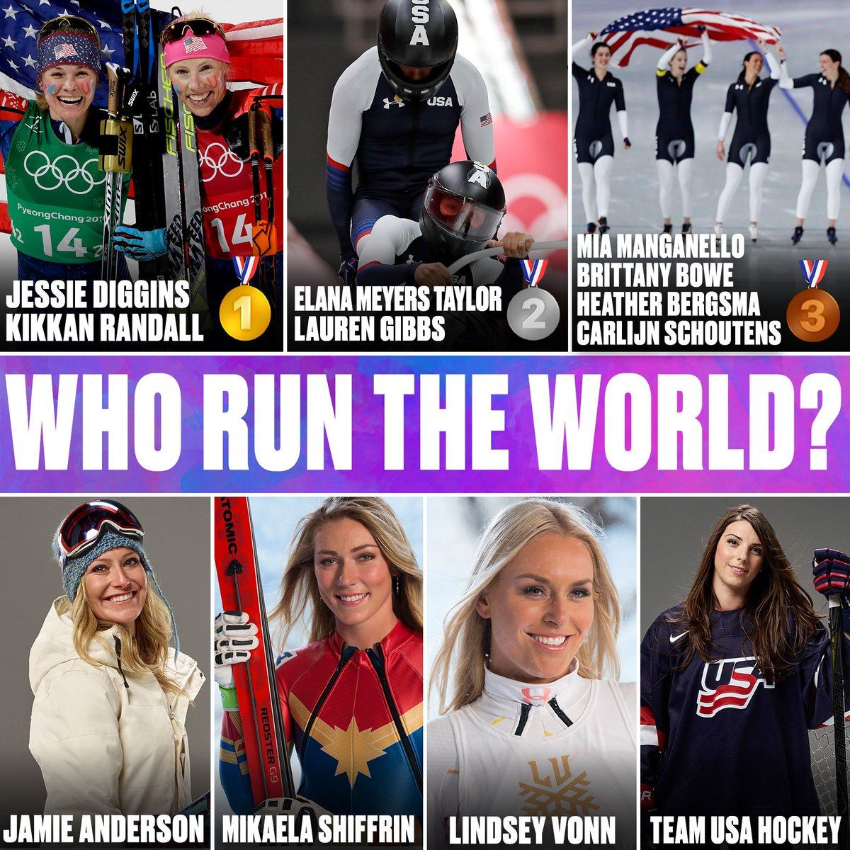 The women of @TeamUSA have won 3 medals...