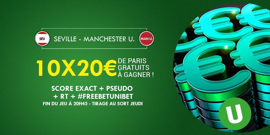 ⚽️💰 Quel sera le score exact de #SEVMU ? 10x20€ de #FreeBetUnibet à gagner !  #TeamParieur