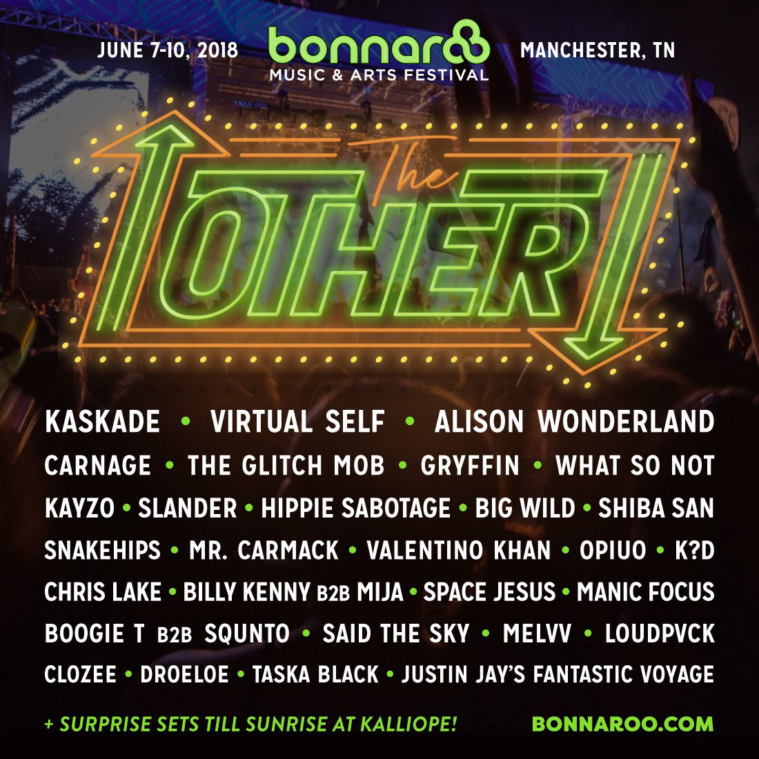 "Bonnaroo Reveals EDM Lineup for ""The Other"" Stage"