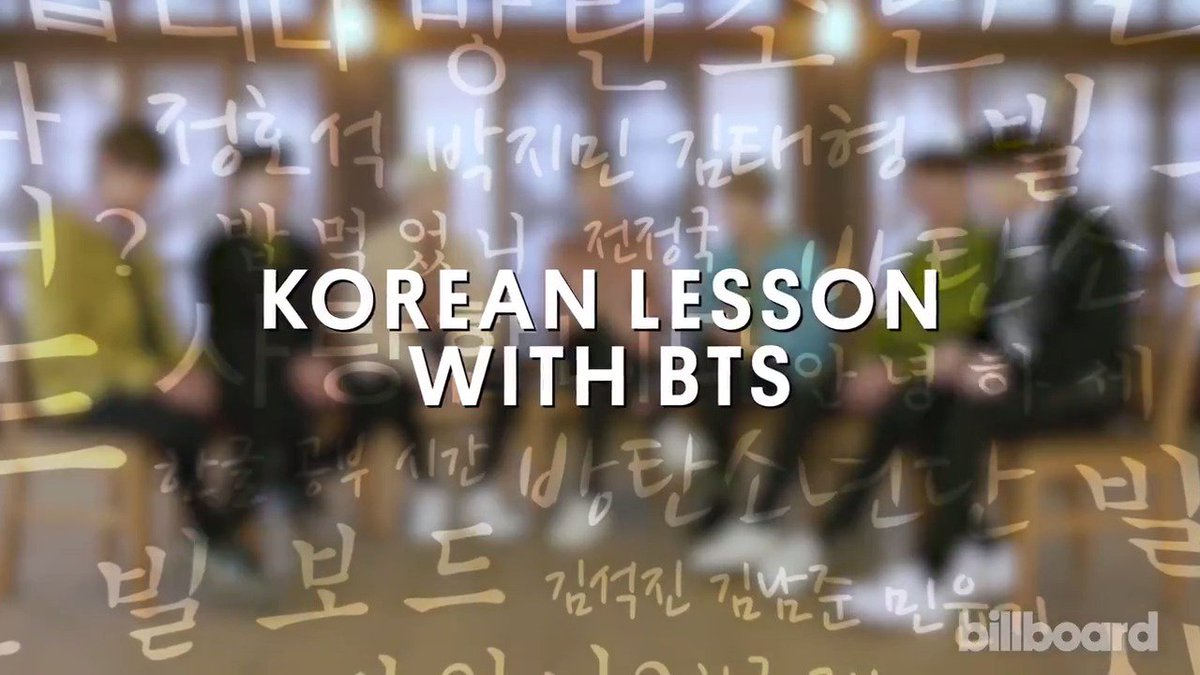 Here are some Korean phrases @BTS_twt wa...