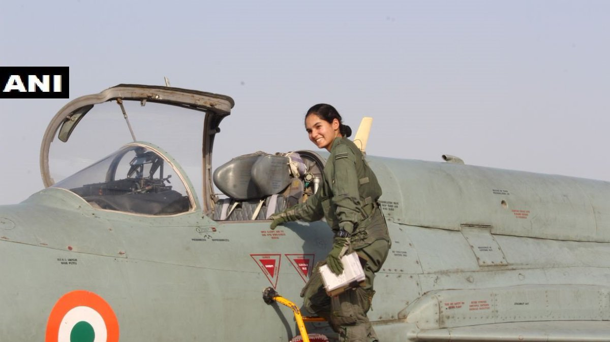Flying Officer Avani Chaturvedi became the first Indian woman to fly a fighter aircraft solo when on 19 February she flew a MiG-21 bison