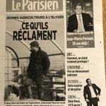 En avant-première, la une du @le_Parisien daté de jeudi vue par les étudiants d'@IPJdauphine . On comparera demain les choix éditoriaux.