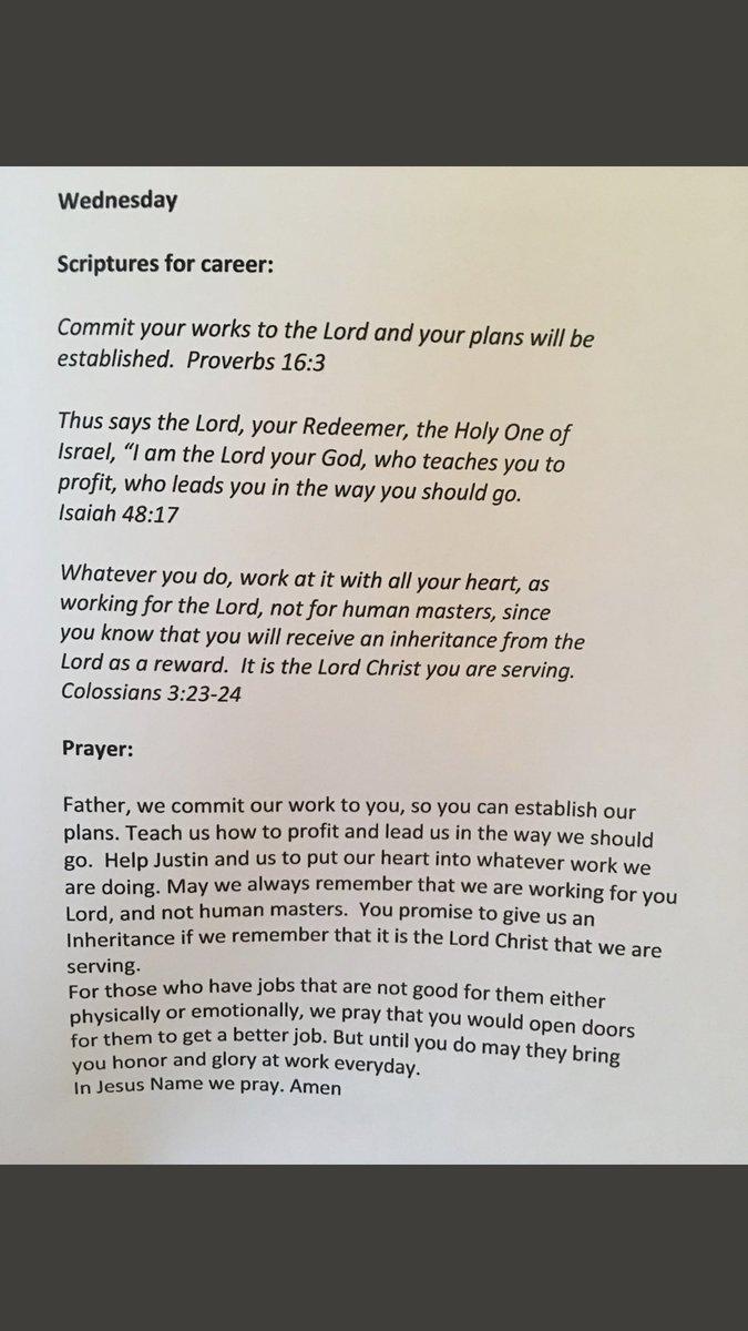 Wednesday - Prayer for CAREER  #praying4...