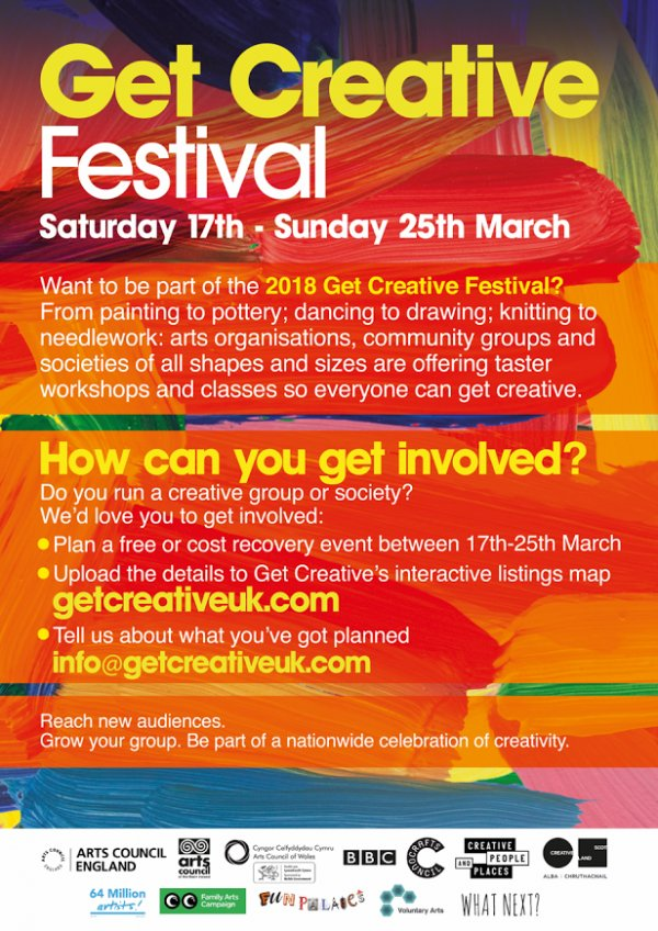 test Twitter Media - Get Creative Fest runs from 17 - 25 March! More info: https://t.co/2wx4yCQKCp #ArtsMatterNI https://t.co/s85mDi6SK5